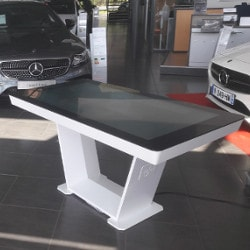 Touch table for car dealerships