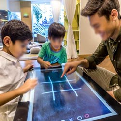 Touch table for the hotel industry