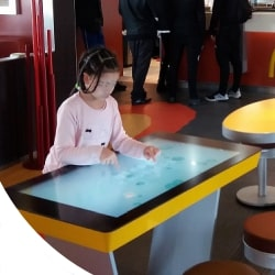 Touch table for restaurants