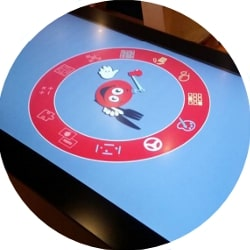 Touch table for the restaurant industry