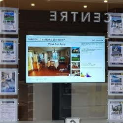 Touchscreen at an estate agent