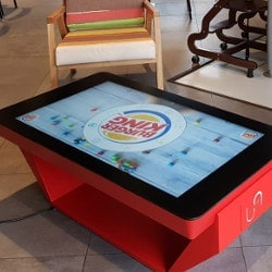 Touch table for a restaurant